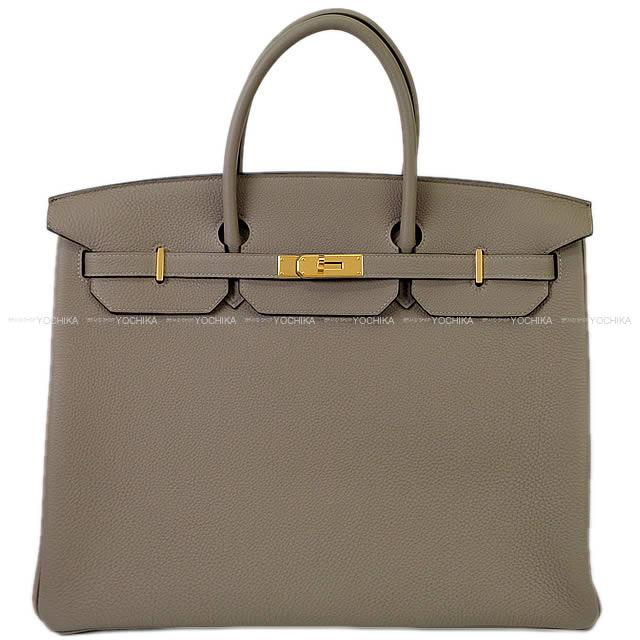 Hermes Handbag Birkin 40 グリアスファルトトゴゴールド Metal Ings New Article Mint Condition