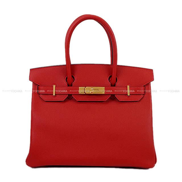 HERMES Hermes handbag Birkin 30 rouge Cossacks Epson gold metal fittings  new article 1a4aa7fe3fa92