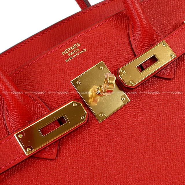 HERMES Hermes handbag Birkin 30 rouge Cossacks Epson gold metal fittings  new article (HERMES handbag Birkin30 Rouge Casaque Epsom GHW Brand ... 05988de28f92c