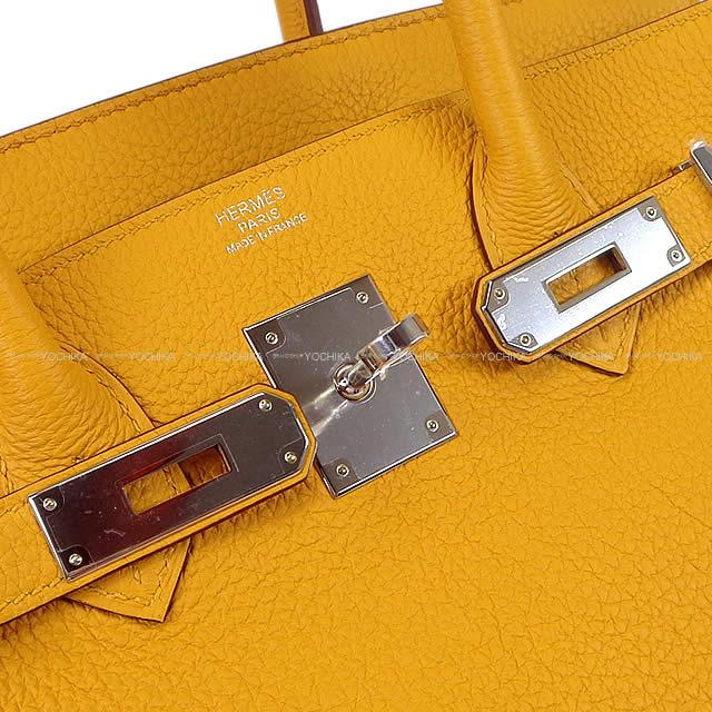 Spring Of 2018 Summer New Color Hermes Handbag Birkin 30 ジョーヌアンブルトゴシルバー Metal Ings Article Handbags Jaune