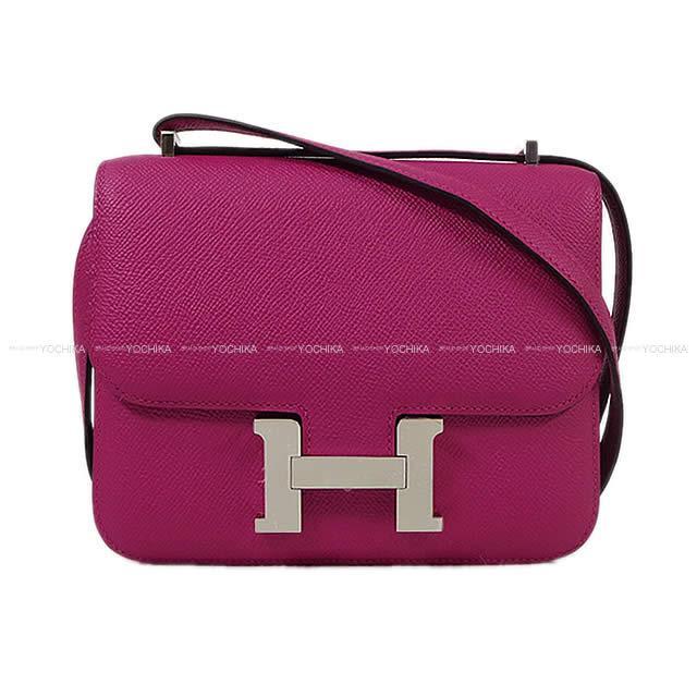 HERMES エルメス ショルダーバッグ コンスタンス3 ミニ 18 ローズパープル エプソン シルバー金具 新品 (HERMES Shoulder bag Constance 3 Mini 18 ROSE POURPRE Epsom SHW[Brand New][Authentic])【あす楽対応】#よちか