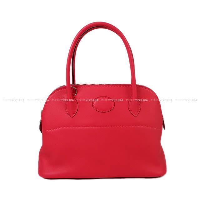 【ご褒美に★】HERMES エルメス ショルダーバッグ ボリード27 ローズエクストレーム(ローズエクストリーム) スイフト シルバー金具 新品 (HERMES Shoulder bag Bolide 27 Rose Extreme Swift SHW[Brand new][Authentic])【あす楽対応】#よちか