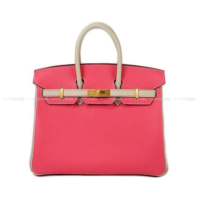 【値下げ!】【冬のボーナスで!】HERMES エルメス バーキン25 スペシャルオーダー ローズアザレXクレ エプソン マットゴールド金具 新品 (HERMES handbag Birkin25 Personal Order Rose Azalee/Craie Epsom Mat GHW[Brand New][Authentic])【あす楽対応】#よちか