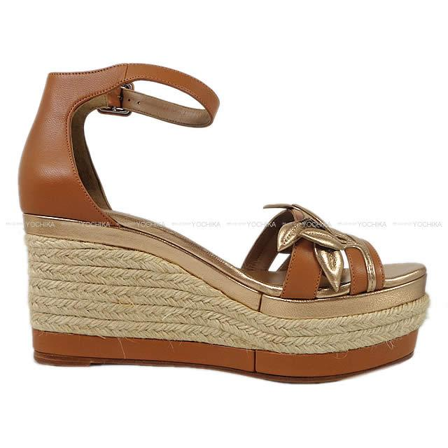 620b1a06a0a In the spring and summer 2016-limited HERMES Hermes Lady s leaf wedge  sandals