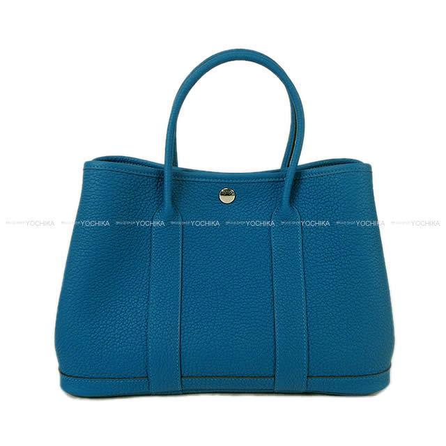【ご褒美に★】HERMES エルメス ハンドバッグ ガーデンパーティ 30 TPM ブルーイズミール ネゴンダ 新品 (HERMES handbags Garden Party 30 TPM Blue Izmir Negonda[Brand New][Authentic])【あす楽対応】#よちか