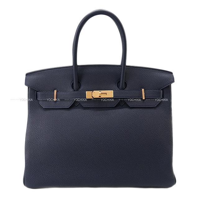 Handbag (HERMES Bleu ハンドバッグ トゴ new][Authentic])【あす楽対応】#よちか Birkin35 ブルーニュイ Togo 新品 【ご褒美に☆】HERMES RGHW[Brand エルメス nuit バーキン35 ローズゴールド金具