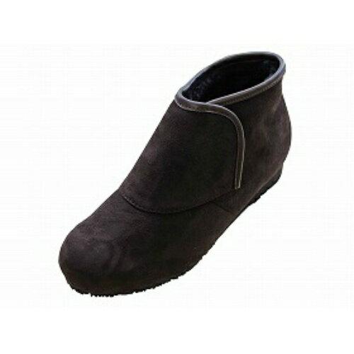 【送料無料】ウェルファン 防寒ブーツ リシェス 防滑ソール 婦人用ブラウン L