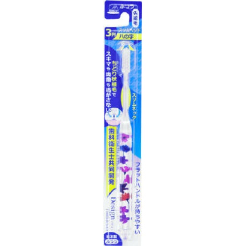 【送料無料・まとめ買い×288個セット】アヌシ OB-806FA ちどりデザインハブラシ Flower 1本入
