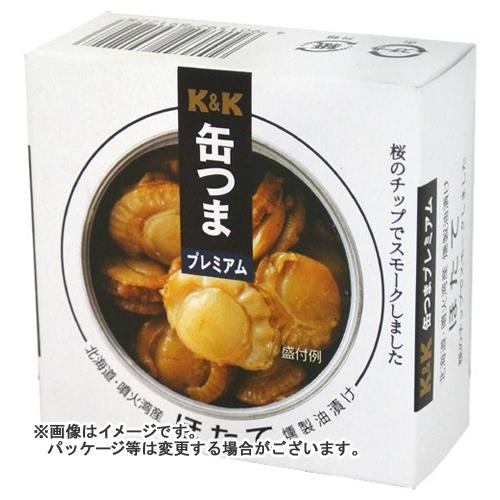 【送料無料】 国分 KK 缶つまプレミアム 北海道ほたて燻製油漬けF3号 55g×24個セット