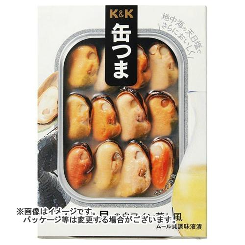 【送料無料】 国分 KK 缶つま ムール貝の白ワイン蒸風 95g×24個セット
