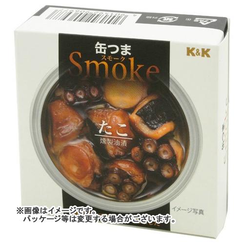【送料無料】 国分 KK 缶つまスモーク たこ 72g×24個セット