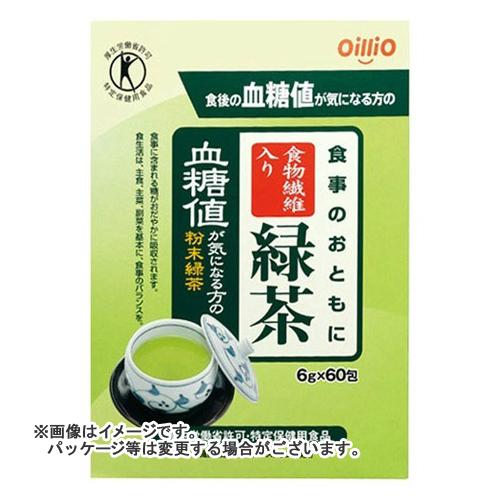 【送料無料】 日清オイリオ トクホ 食事のおともに食物繊維入り緑茶 6g*60包 ×10個セット
