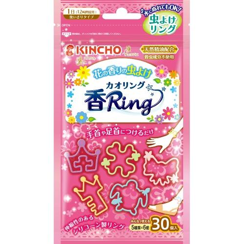 【送料無料・まとめ買い×40個セット】金鳥 虫よけ カオリング 花の香り ピンク N 30枚入