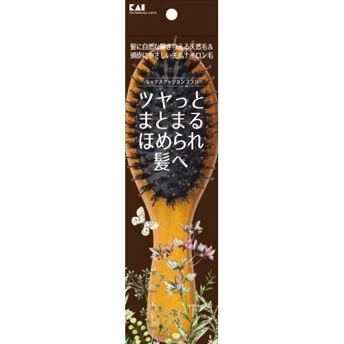 【送料無料・まとめ買い×60個セット】貝印 KQ3159 ミックス クッション ブラシ 1本入