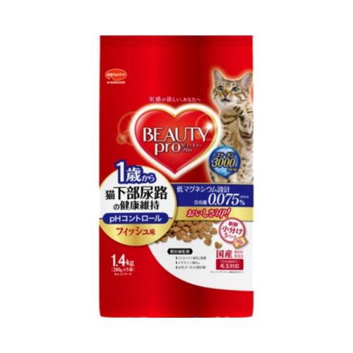 【・まとめ買い×6個セット】日本ペットフード ビューティープロ キャット 猫下部尿路の健康維持 1歳から(1.4kg):ケンコウlife