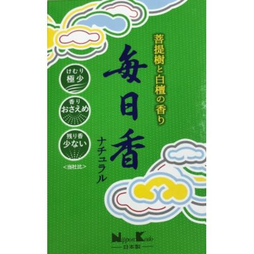 【送料無料・まとめ買い×40個セット】日本香堂 毎日香 ナチュラル 大型 バラ 220g