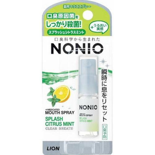【送料無料・まとめ買い×72個セット】ライオン NONIO ノニオ 薬用 マウススプレー スプラッシュ シトラスミント 5ml
