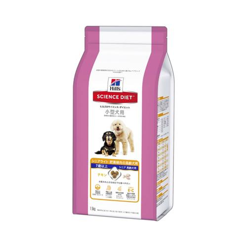 【送料込・まとめ買い×6個セット】ヒルズのサイエンスダイエット 小型犬用 シニアライト 肥満傾向の高齢犬用 7歳以上 チキン(1.5kg)