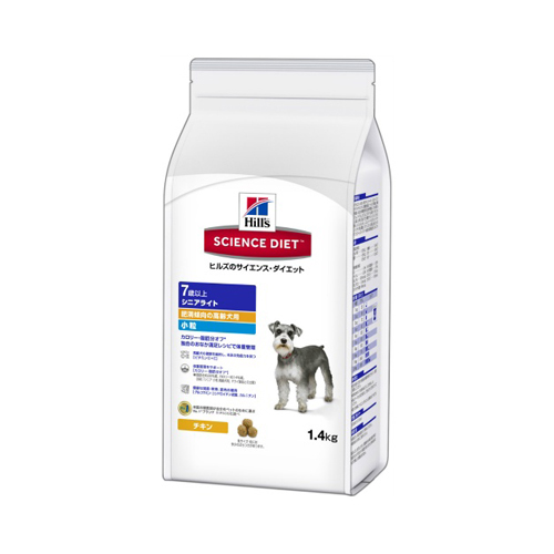 【送料込・まとめ買い×6個セット】ヒルズのサイエンスダイエット シニアライト 小粒 肥満傾向の高齢犬用(1.4kg)