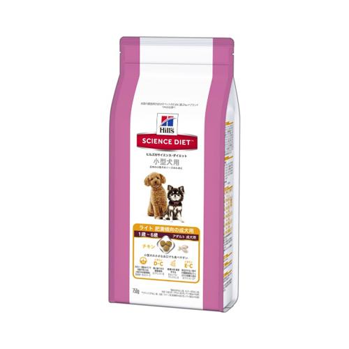 【送料込・まとめ買い×10個セット】ヒルズのサイエンスダイエット ライト 小型犬用 肥満傾向の成犬用(750g)
