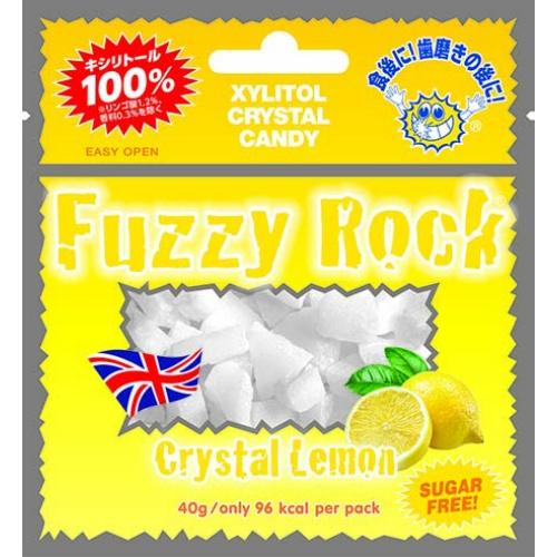 【送料込・まとめ買い×120個セット】ビタットジャパン Fuzzy Rock クリスタル レモン 40g XYLITOL CRYSTAL CANDY