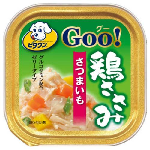 【送料込・まとめ買い×96個セット】日本ペットフード ビタワン グー 鶏ささみ さつまいも 100g