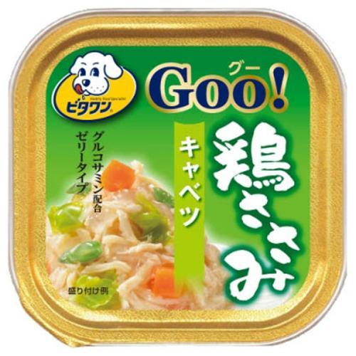 【送料込・まとめ買い×96個セット】日本ペットフード ビタワン グー 鶏ささみ キャベツ 100g