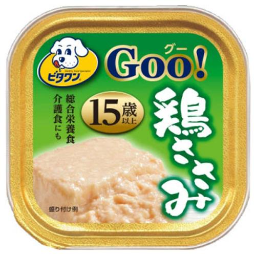 【送料込・まとめ買い×96個セット】日本ペットフード ビタワン グー 鶏ささみ 15歳以上 90g