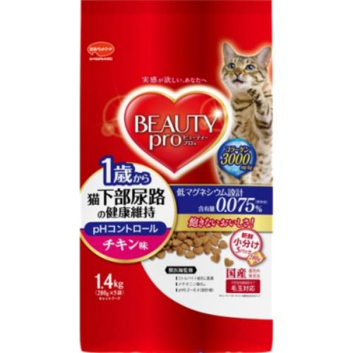 【送料込・まとめ買い×8個セット】日本ペットフード ビューティープロ キャット 猫下部尿路の健康維持 1歳から チキン味 280g×5袋入