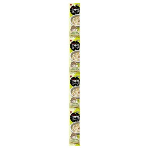 【送料込・まとめ買い×50個セット】ペットライン キャネット 3時のスープしらす添えかつおだしスープ風 25g×4パック