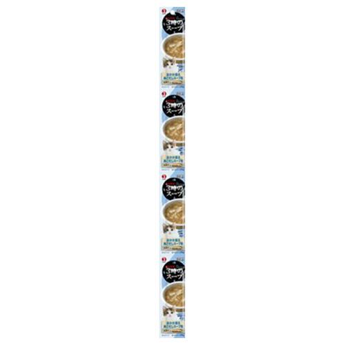 【送料込・まとめ買い×50個セット】ペットライン キャネット 3時のスープ おかか添え あごだしスープ風 25g×4パック