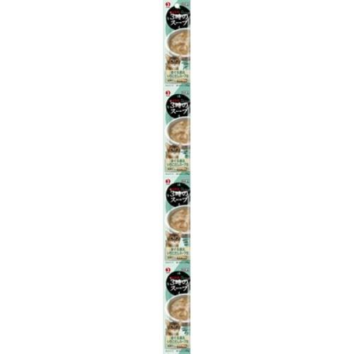 【送料込・まとめ買い×50個セット】ペットライン キャネット 3時のスープ まぐろ添え いりこだしスープ風 25g×4パック
