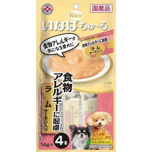 【送料込・まとめ買い×48個セット】いなば Wan ちゅ~る 食物アレルギーに配慮 ラム サーモン入り 14g×4本