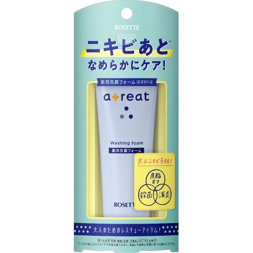 【送料込・まとめ買い×24個セット】ロゼット atreat 薬用 洗顔フォーム 80g