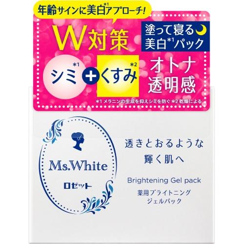 【送料込・まとめ買い×24個セット】ロゼット Ms.White 薬用ブライトニング ジェル パック 100g