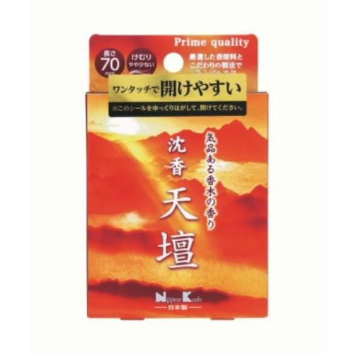 【送料込・まとめ買い×80個セット】日本香堂 沈香 天壇 ミニ 気品ある香木の香り 70mm けむり やや少ない 50g