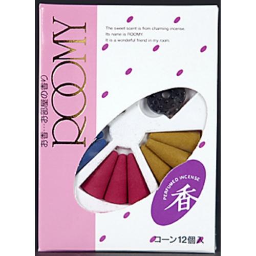 【送料込・まとめ買い×240個セット】日本香堂 ROOMY12AS CONES お香