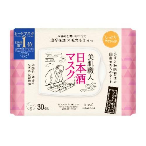 【送料込・まとめ買い×12個セット】コーセーコスメポート クリアターン 美肌職人 日本酒 マスク 30枚入
