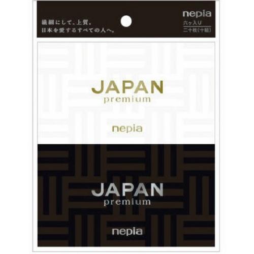 繊細にして上質 日本を愛する人へ ティッシュ 4901121140308 送料込 卓抜 まとめ買い×8個セット 国内即発送 王子ネピア JAPAN ティシュ ポケット 6コパック ネピア premium