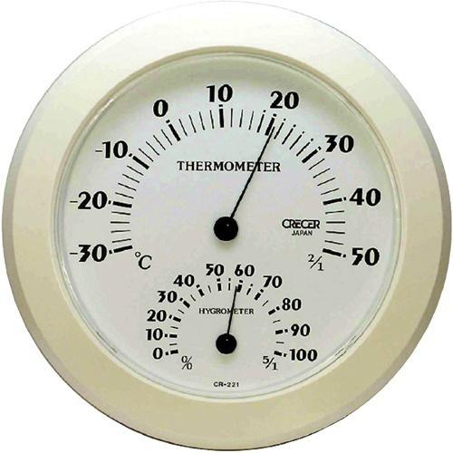 【送料込・まとめ買い×8個セット】クレセル 温湿度計 ホワイト CR-221W