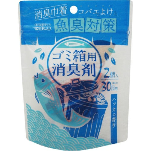 【送料込・まとめ買い×64個セット】ウエ・ルコ ゴミ箱用 消臭剤 ハッカの香り 20g