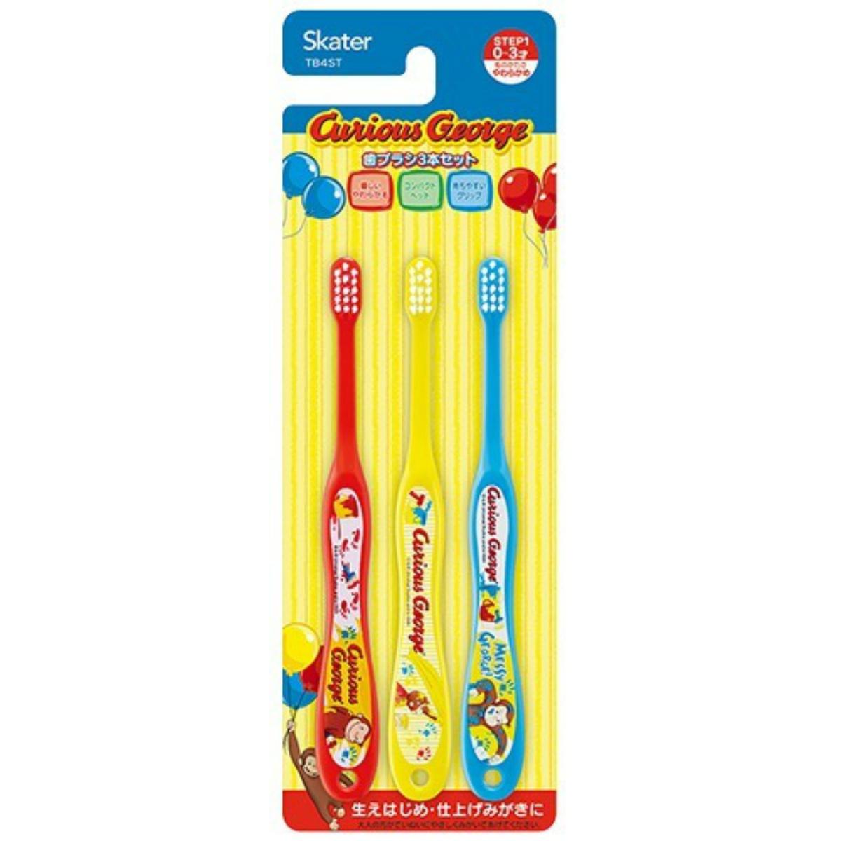 子ども用キャラクター歯ブラシ 4973307470622 送料込 まとめ買い×240個セット スケーター 3本入 歯ブラシ TB4ST 割引も実施中 おさるのジョージ 乳児用 ディスカウント