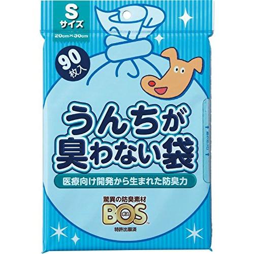 クリロン化成 BOS(ボス) うんちが臭わない袋 ペット用 Sサイズ 90枚入( ペット用品 袋 )/4560224462863/