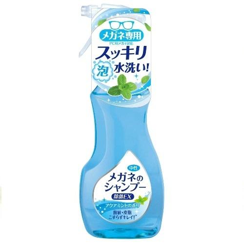 メガネにスプレーし水で洗い流すだけ ☆最安値に挑戦 こすり洗いは不要です 汗や皮脂などしつこい汚れはもちろん 鼻パッドや耳あて部分に付着した目に見えない雑菌までスッキリ除去し メガネを清潔に ×2個セット送料込み ソフト99 新発売 メガネのシャンプー アクアミントの香り 除菌EX 4975759202035 お手入れ メガネすっきり泡シャンプー 200mL 眼鏡