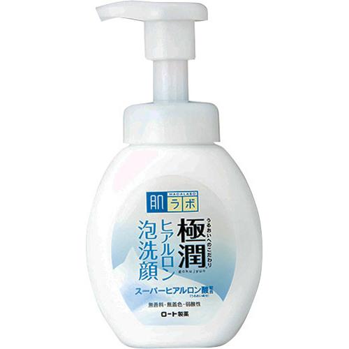 【×24個セット送料無料】【ロート製薬】肌研 極潤 ヒアルロン泡洗顔 160ml 1個