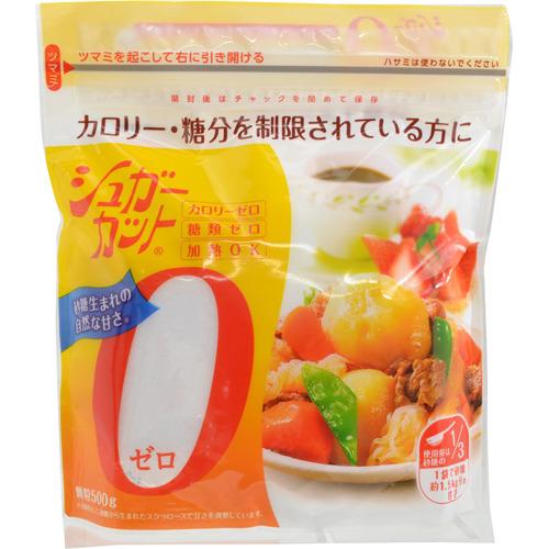 【送料無料・まとめ買い×20個セット】浅田飴 シュガーカットゼロ 顆粒 500g