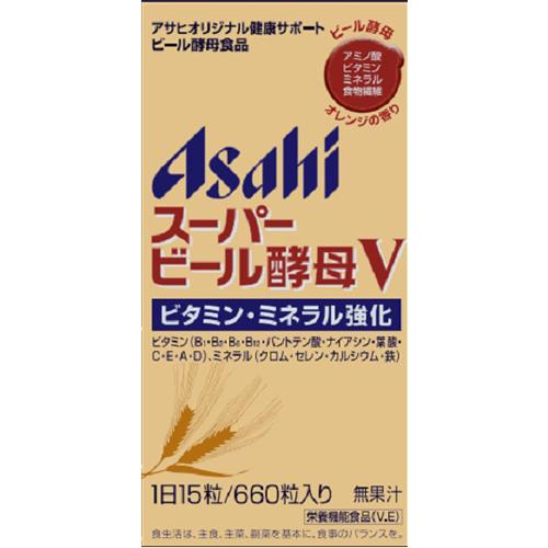 【送料無料・まとめ買い×10個セット】アサヒグループ食品 スーパービール酵母V 660粒