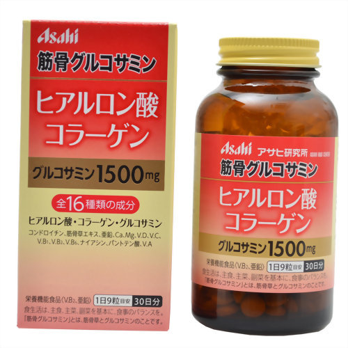 270 Asahi muscles and bones glucosamine hyaluronic acid collagen