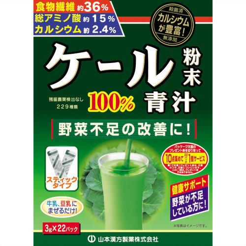 【送料無料・まとめ買い×10個セット】山本漢方製薬 ケール粉末100%青汁 3g×22包