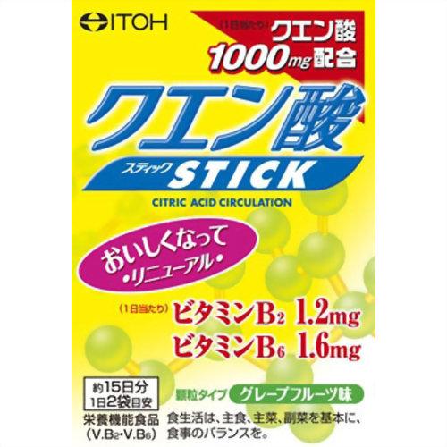【×12個セット送料無料】【井藤漢方製薬】クエン酸スティック 2g×30包